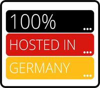 Logo - 100% Hosted in Germany